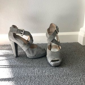 Michael Kors Gray Suede Pumps